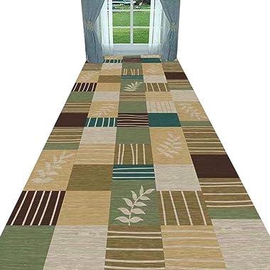 YANZHEN Hallway Runner Rugs Non-Slip Backing Moisture Proof Cutable No Shedding Corridor Washable Blended Fabric, Size Custom