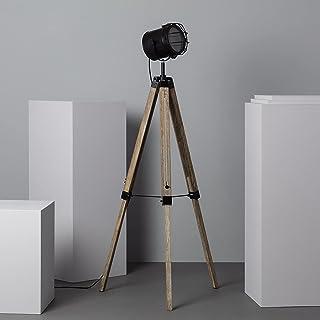 LEDKIA LIGHTING Lampadaire Boes 1400x650x550 mm Noir E27 Bois - Métal pour Décoration Salon, Chambre, Cuisine
