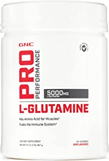 GNC Pro Performance L-Glutamine, Unflavored, 181 Servings, Supports The Immune System