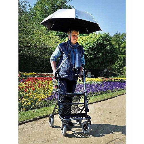 Schirm für Rollator Nitro Silber