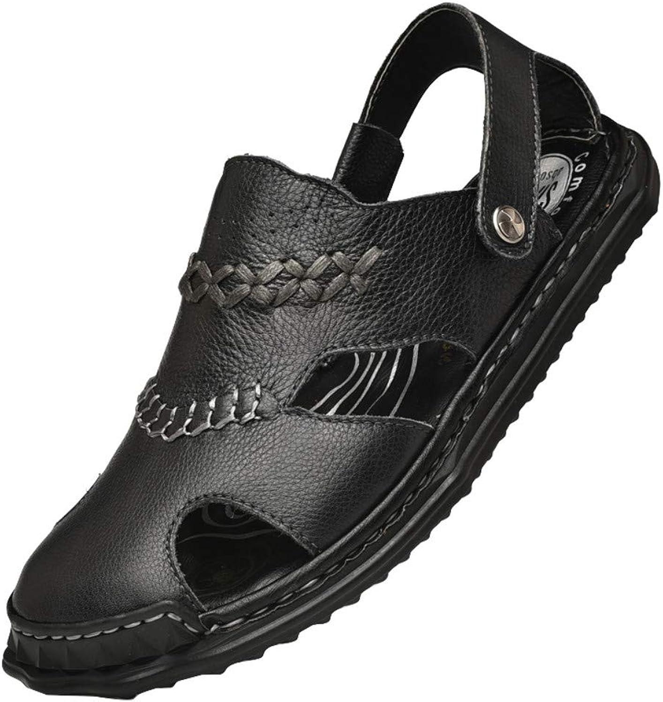 Chanclas Deportes Al Aire Libre Sandalias shoes para men Men's Summer Men's shoes Casual Holes Leather shoes Baotou Sandals Half Slippers Beach Summer