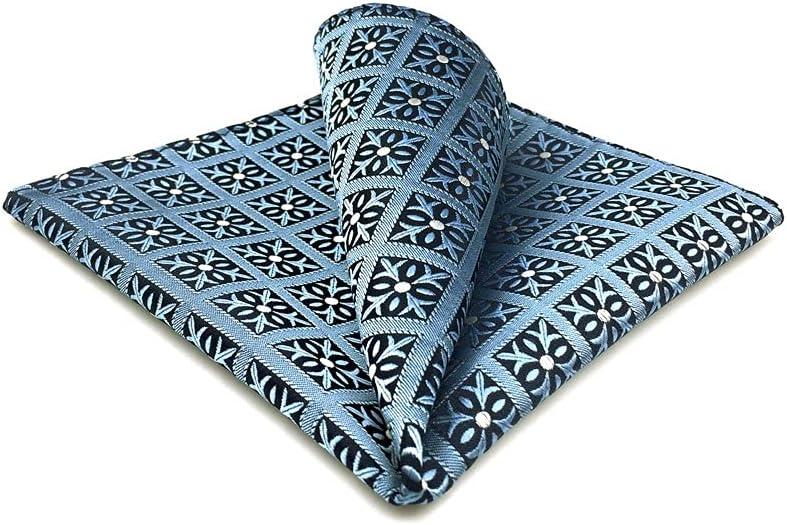 YFQHDD Mens Pocket Square Wedding Silk Handkerchief Party Hanky Classic Fashion (Color : A, Size : 32x32CM)