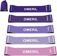 OMERIL Resistance Bands, Skin-Friendly Exercise Loop Bands with Different Resistance Levels Workout Bands for Legs and Glu...