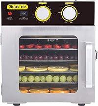 ZNBJJWCP Sèche-Aliments électrique Machine de déshydrateur de Fruits Déshydrateur de Nourriture en Acier Inoxydable 6 Plat...