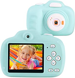 AIDISITE Kids Camera 12MP HD 2.3Inch Screen Digital Video Camera for Kids Soft Anti-Drop Toy Camera Mini Child Camcorder for 2-12 Year Old boy Blue(8GB TF Card Included) Christmas/Birthday Gifts
