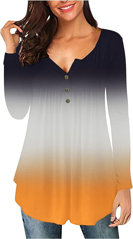 Hoodies for Women Casual,Women Stripe Loose Tops Twist Knot Long Sleeve Sweater Casual Blouse Shirt Yellow