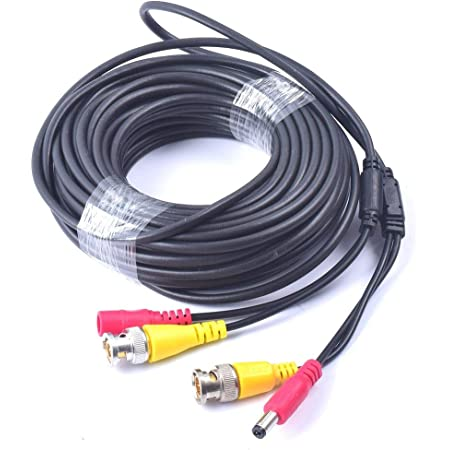 Cocar 65 Fuß 20m All In One Bnc Video Verlängerungskabel Mit Power Dc Anschluss Für Überwachungskamera Home Surveillance Cctv Closed Circuit Tv System Baumarkt