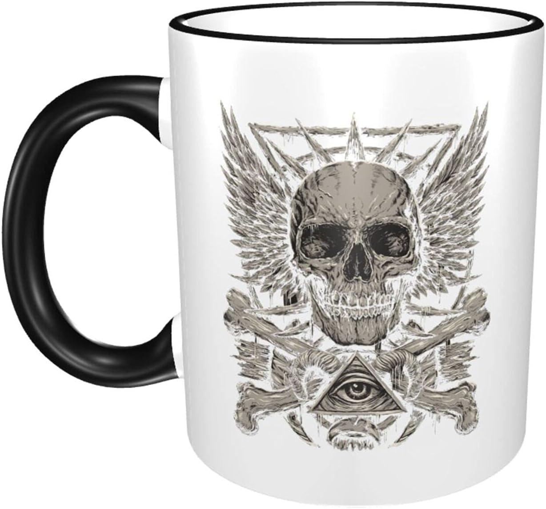 Skull 11oz Large Houston Mall Coffee Mugs Classic Print Cup Ceramics Ranking TOP7 Wat Cute