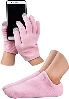 Gel Moisturizing Spa Gloves and Socks Gel Repair and Heal Eczema Cracked Dry Skin Touch Screen Moisturizing Gloves