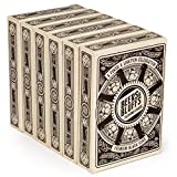 6 Decks Beers & Bluffs Craft Beer Themed Playing Cards | Cream Playing Cards with Custom Hop and Beer Bottle Card Art | Plastic-Coated 310gsm Black Core, Standard Index, Poker Size