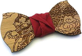 Papillon legno GIGETTO Dragone Nodo Rosso Made in Italy