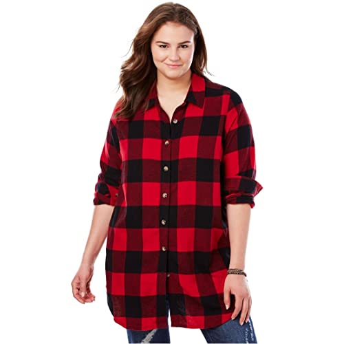 5a13c69937eb3 Woman Within Plus Size Classic Flannel Shirt