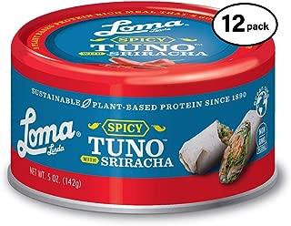 Loma Linda Tuno - Plant-Based - Spicy Sriracha (5 oz.) (Pack of 12) - Non-GMO, Ocean Safe, Omega 3, Seafood Alternative