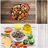 wood background - Allenjoy 34.4x15.7in Double Sided White Wood Photography Background 2 in 1 Texture Pattern Waterproof Paper Tabletop Backdrop Food Jewelry Cosmetics Makeup Small Product Props Professional Photo Shoot