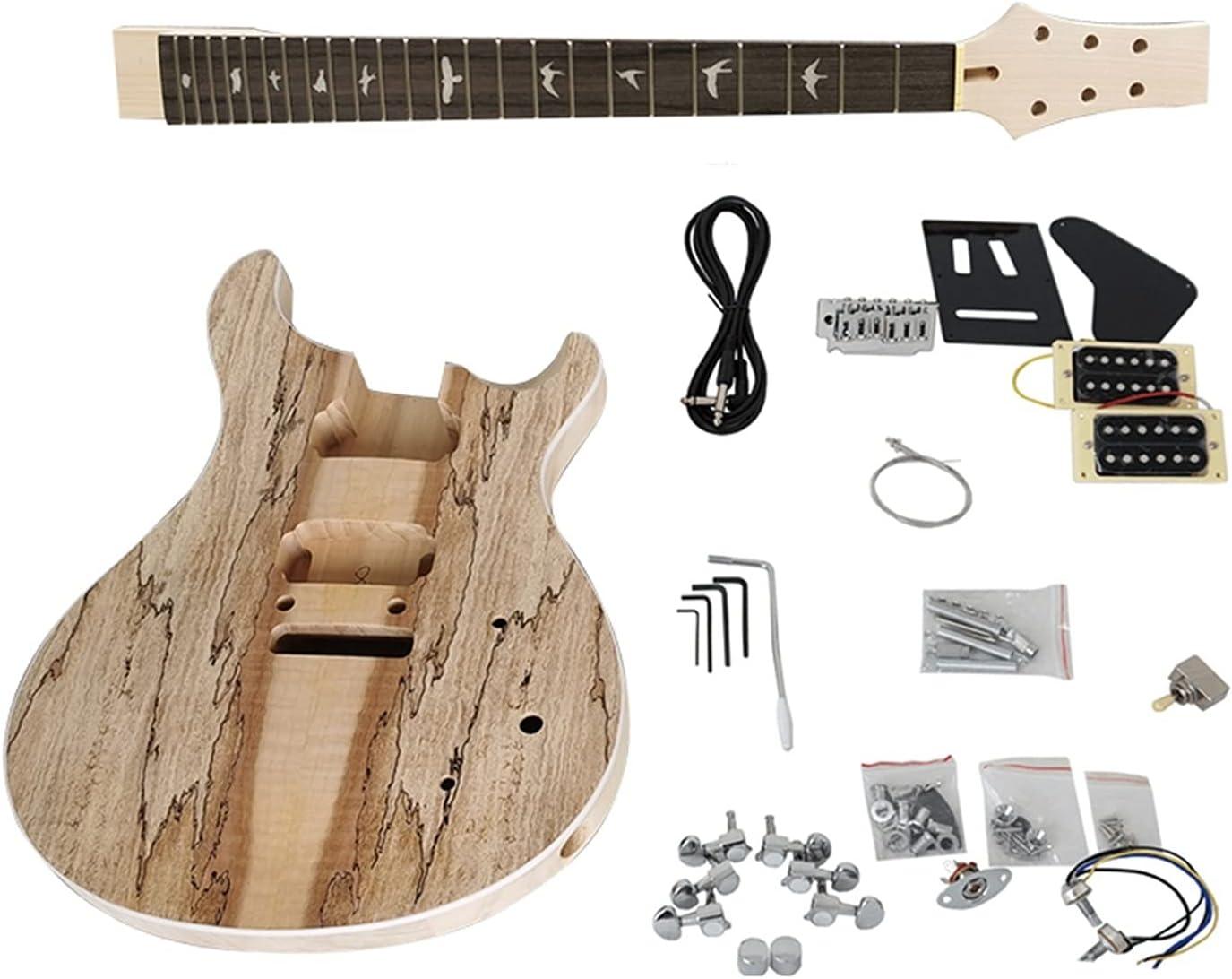 Cuerpo Guitarra Inconcluso DIY PRS Kits De Guitarra Eléctrica Guitarra Musical Corporal De Basswood con Todas Las Hardware Kits Guitarra Bricolaje (Color : EK010S)