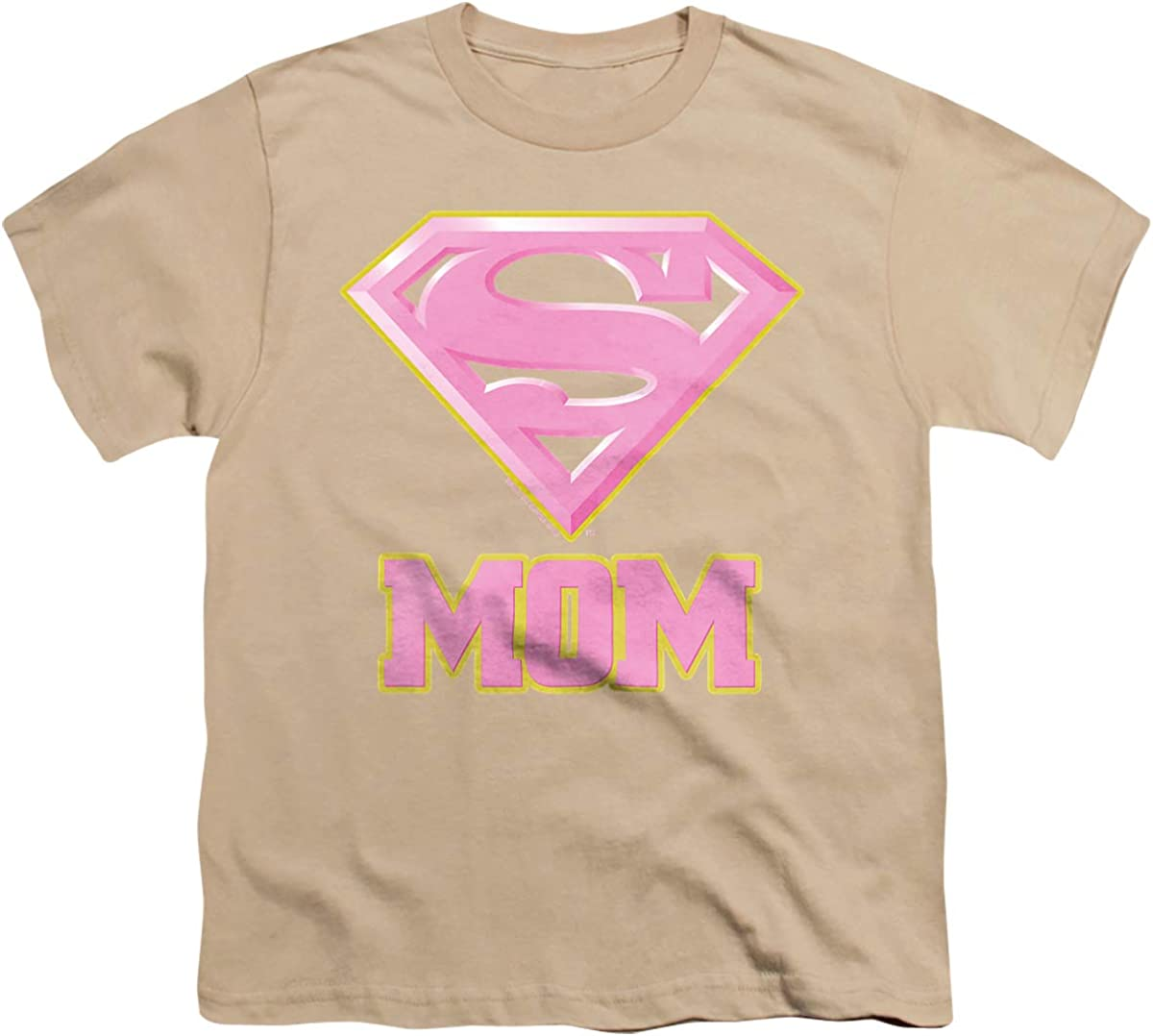 Superman Super Mom Pink Unisex Youth T Shirt