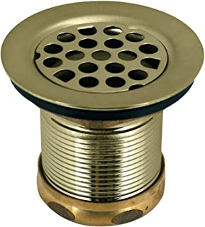 Westbrass Grid Basket Style Bar Sink Strainer, Polished Brass, D2181-01