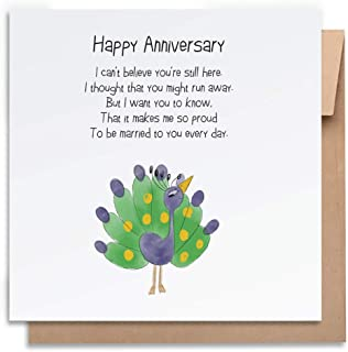 So Proud - Anniversary Card with Envelope, Funny Anniversary Card Humorous Anniversary Card Anniversary Card For Him Anniv...