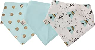A0127 - Juego de 3 bandanas de algodón para bebé, diseño