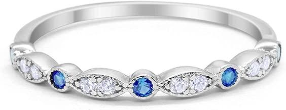 platinum cz wedding rings