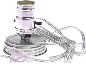 Mason Ball Jar Light/Lamp Adapter Kit - Primitive Zinc Lid (1)