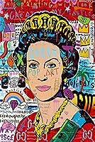 グラフィティストリートアートキャンバスプリント絵画抽象図壁画リビングルーム家の装飾ポスター 100x150cmx0007-10