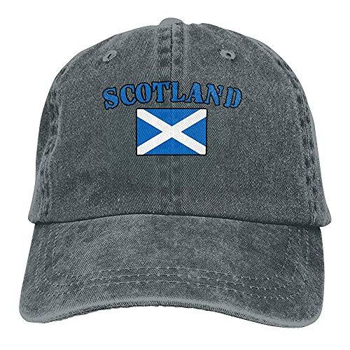 Egoa Strapback Hut Unisex verstellbare Baseball Cap Schottland Flagge Visier Hut