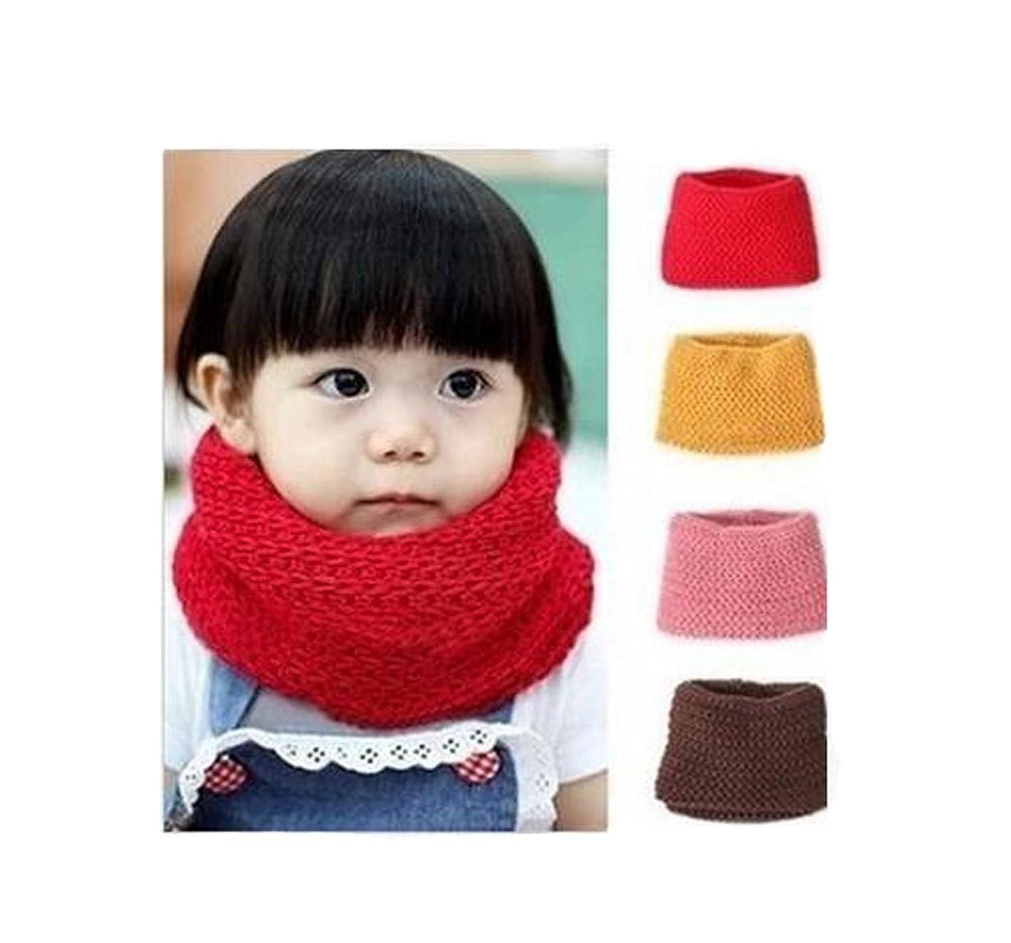 作ります長方形日付付きユニセックスベビー子供幼児用男の子女の子ソフト厚いニットスカーフウォーマー冬ニットスカーフネックスカーフラップスカーフ S