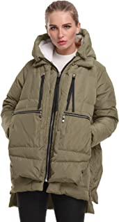 FADSHOW Women's Winter Down Jackets Long Down Coats Warm Parka with Hood