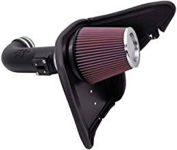 K&N Cold Air Intake Kit with Washable Air Filter: 2010-2015 Chevy Camaro, 6.2L V8, Black HDPE Tube with Red Oiled Filter, 63-3074