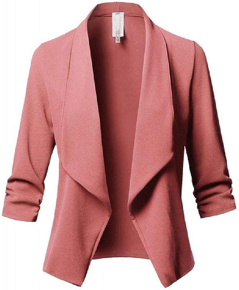 Fr/ühling Sommer Damen Anzug Jacke Langarm Plissee Slim Blazer Damen Top Solid Coat Plus Size 3XL 5XL Damen Office Wear
