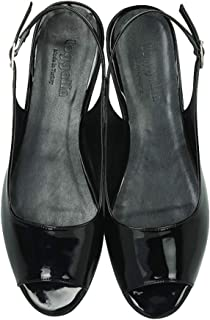 Erkan Kaban 231003 020 Kadın Siyah Rugan Sandalet