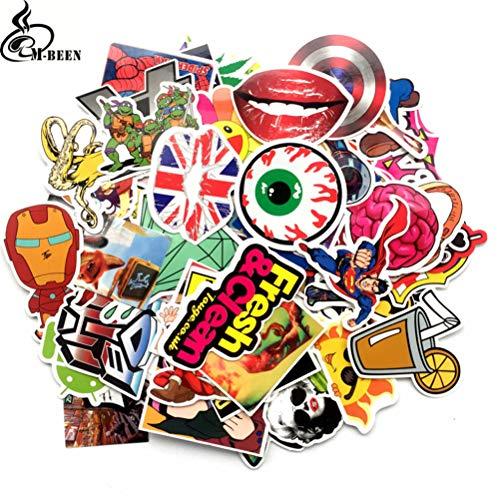 50 Stks Sticker Retro Europa En Amerika Auto Trolley Koffer Skateboard Motorfiets Laptop Sticker