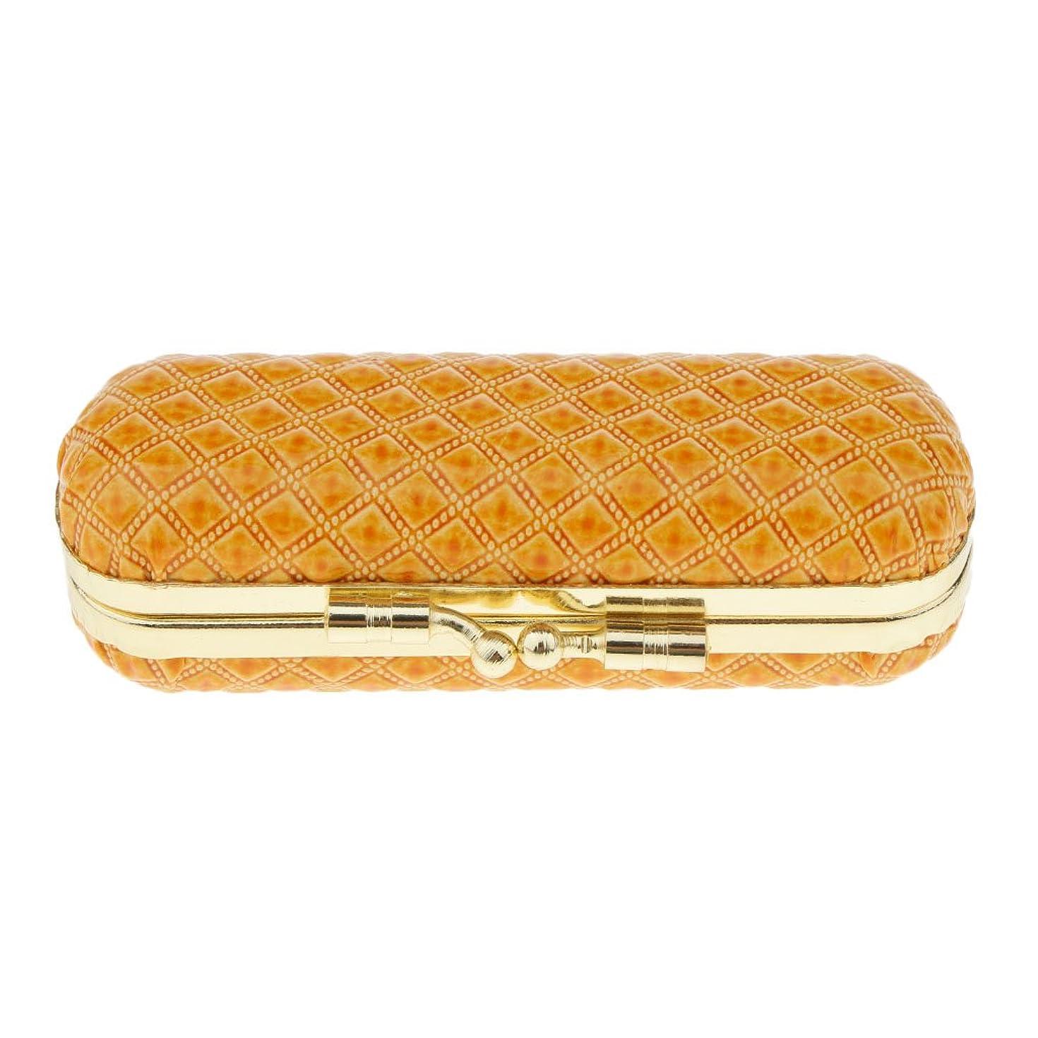 Baosity 化粧ポーチ 口紅ホルダー リップスティック リップグロス 収納ケース ミラー付き 可愛い 小物収納 携帯用 6タイプ - オレンジ
