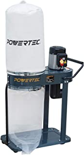 POWERTEC DC1080 Portable Shop Dust Collector with 1 HP Motor