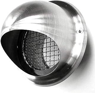 Aussenwandlüftung Ablufthaube Edelstahl Zulufthaube Kugelhaube Kugelablufthaube Lufthaube Vogelschutzgitter Lochgitter Lüftungsgitter Lüftungsrohr vers. Größen 200mm