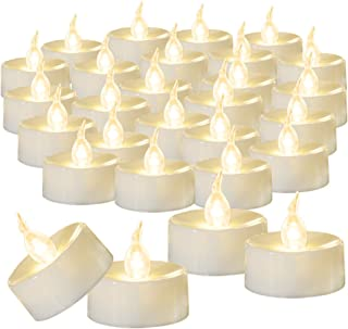 Beichi 100-Pack Flameless LED Tea Light Candles Bulk, Warm White Battery Operated Votive Tealight Little Candles, Small Electric Fake Tea Candles for Holiday, Wedding, Parties