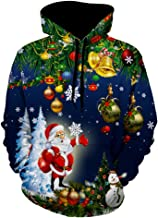Leomodo Christmas Tree Santa Jingle Bells Christmas Hoodie