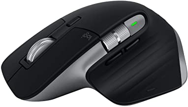 Logitech MX Master 3 Advanced Wireless Mouse for Mac, Ultrafast Scrolling, Use on Any Surface, Ergonomic, 4000 DPI, Custom...