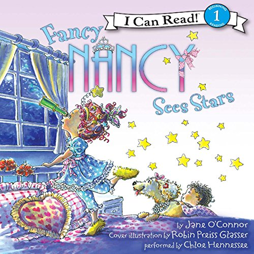 Fancy Nancy Sees Stars audiobook cover art