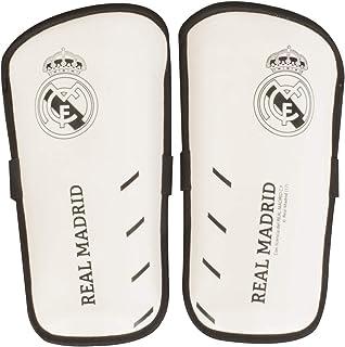 Espinilleras Infantiles del Real Madrid, Talla S, Color Blanco