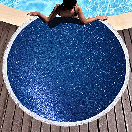 Toalla de Playa de Microfibra,Toalla de Piscina Grande Esterilla de Yoga, Impresión Redonda Serie Sands