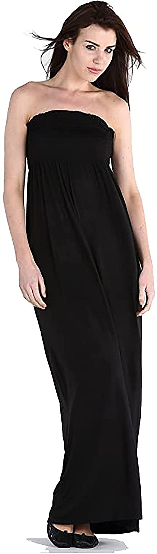 Purple Hanger Women's Boob Tube Bandeau Strapless Maxi Dress