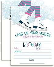 Ice Skating Birthday Party Invitations for Girls, 20 5