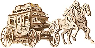 Mechanical UGEARS wooden 3D puzzle Model Stagecoach Construction Set
