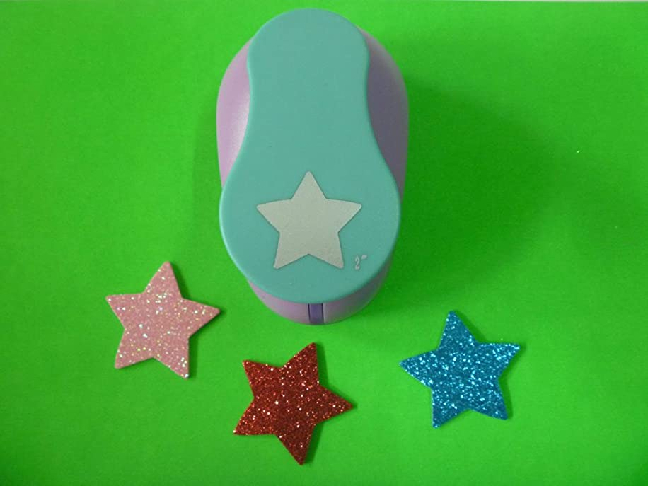 1 Piece Star Shaped hole punches 2'' craft punch paper cutter scrapbook child craft tool Embosser kid by Fascola