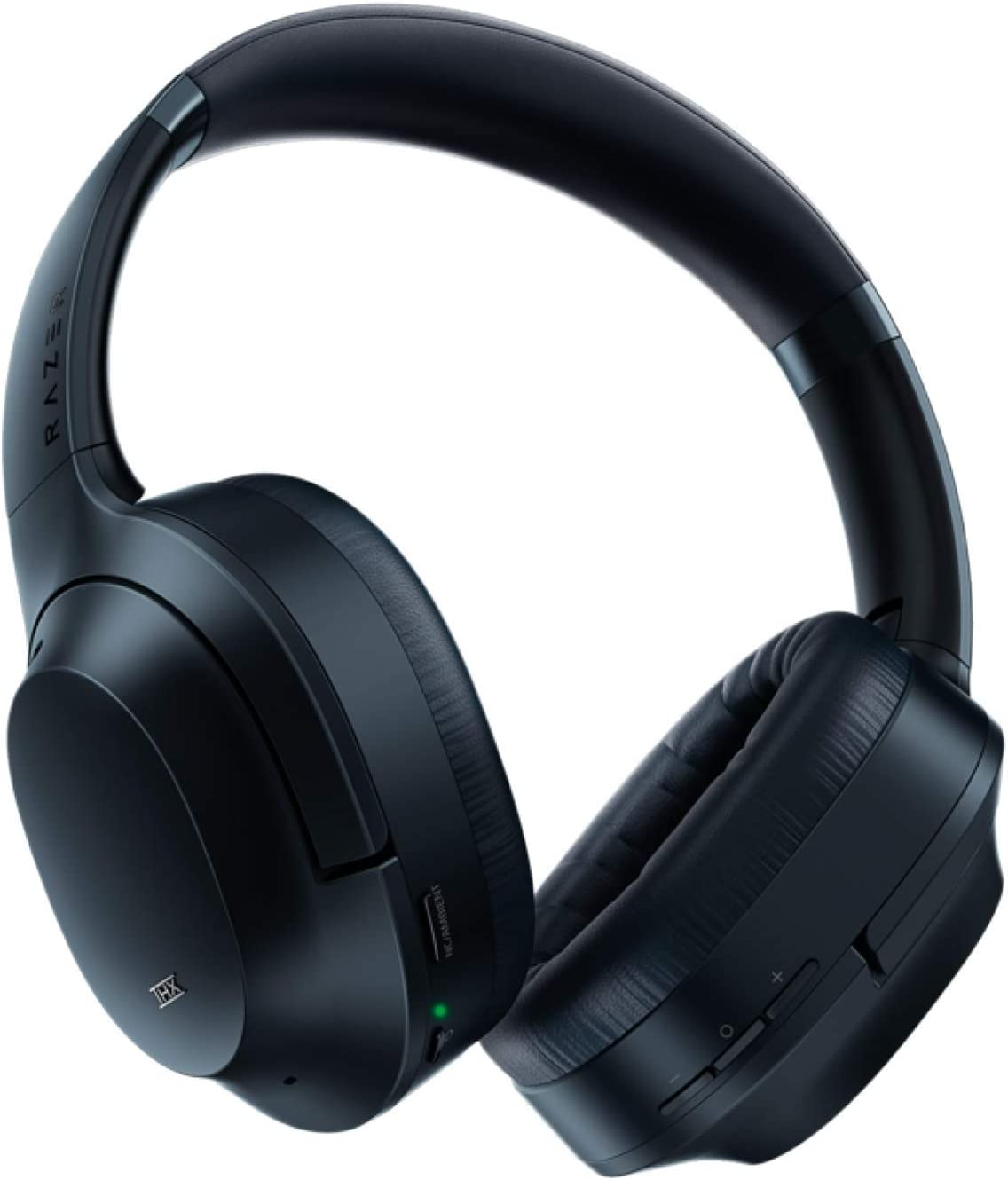 Razer Opus Active Noise Cancelling ANC Wireless Headphones: THX Audio Tuning - 25 Hr Battery - Bluetooth 4.2 & 3.5mm Jack Compatible - Auto Play/Auto Pause - Carrying Case Included - Midnight Blue
