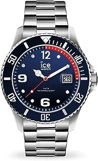 Ice-Watch - Ice Steel Marine Silver - Montre Bleue pour Homme avec Bracelet en Metal - 017324 (Extra Large)