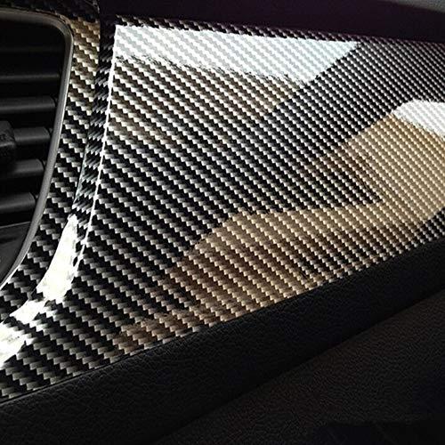Essming 30x100cm 5D De Alto Brillo Fibra De Carbono Película del Vinilo Car Styling Wrap Coche De La Motocicleta Que Labra Los Accesorios Interiores De Fibra De Carbono De Cine (Size : 50x600cm)
