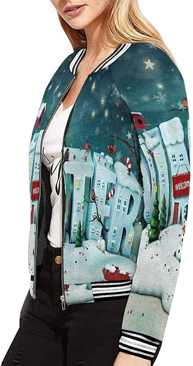 InterestPrint Women's Female Faces Jacket Long Sleeve Zipper